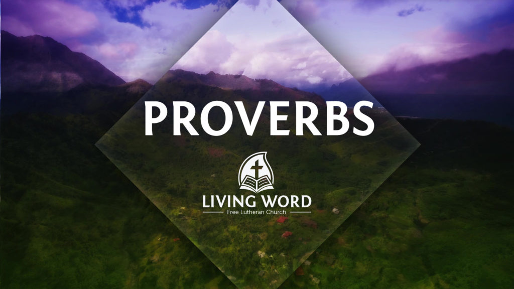 We continue to look at the book of Proverbs as we gather for worship this coming Sunday.