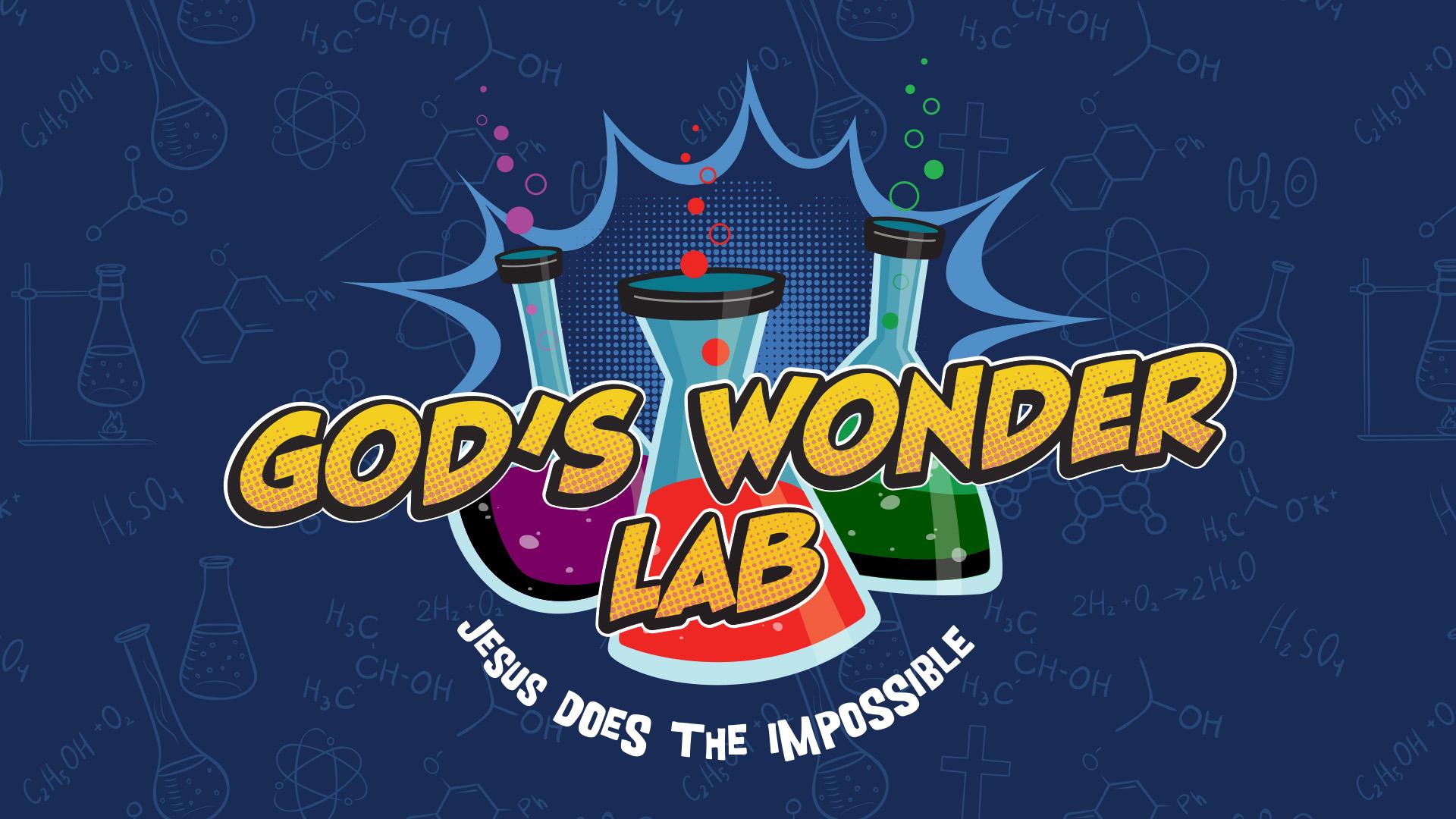 Image artwork for God's Wonder Lab VBS