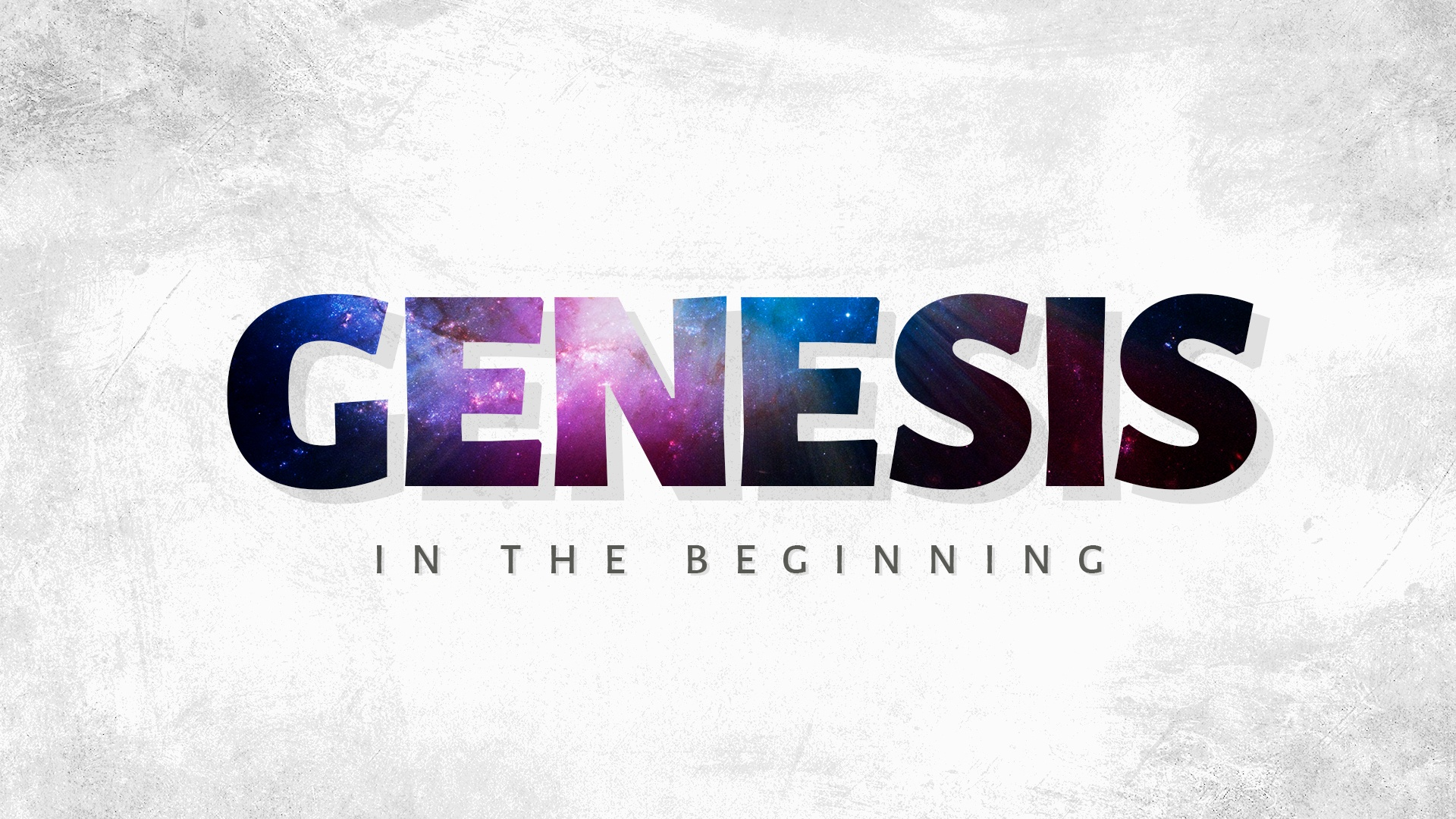 """Series artwork for Living Word's fall 2021 series - """"In The Beginning"""""""